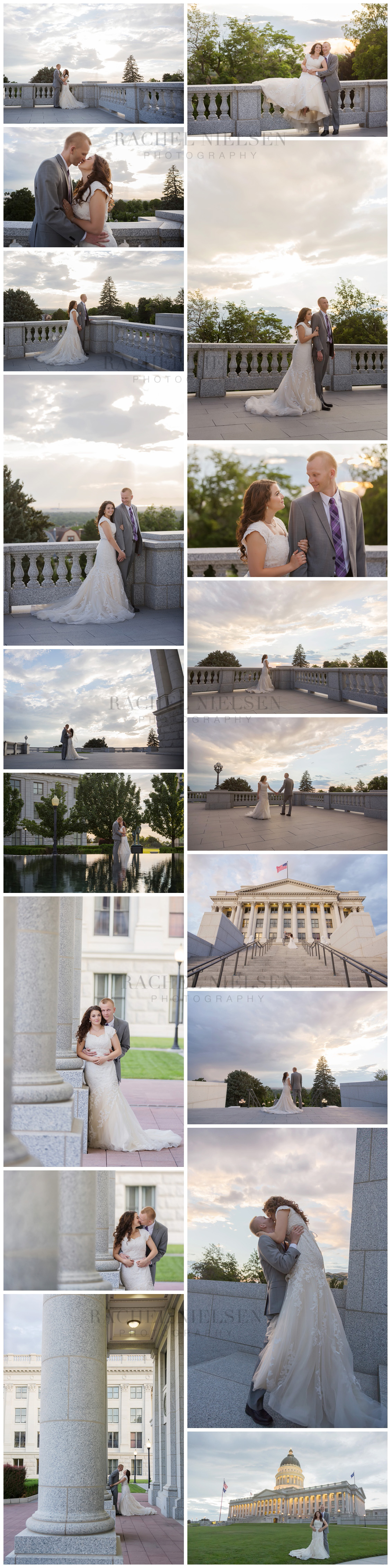 Kylee and Matt Bride and Groom photos - Salt Lake City Capitolw