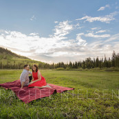 silver lake engagement session