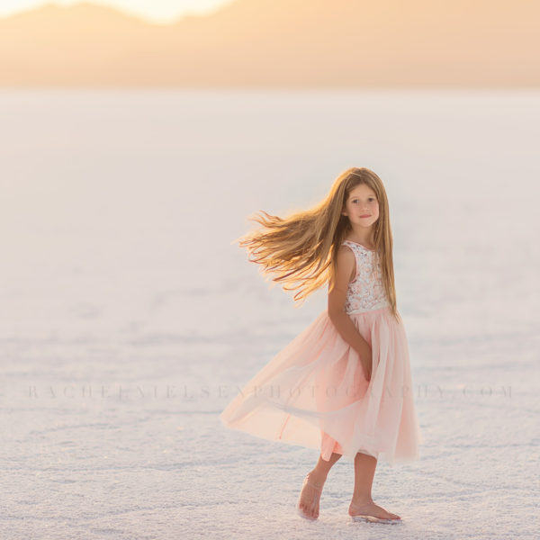 My girl + Salt Flats