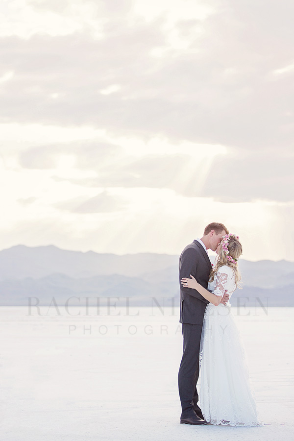 Wedding couple at the Salt Flats
