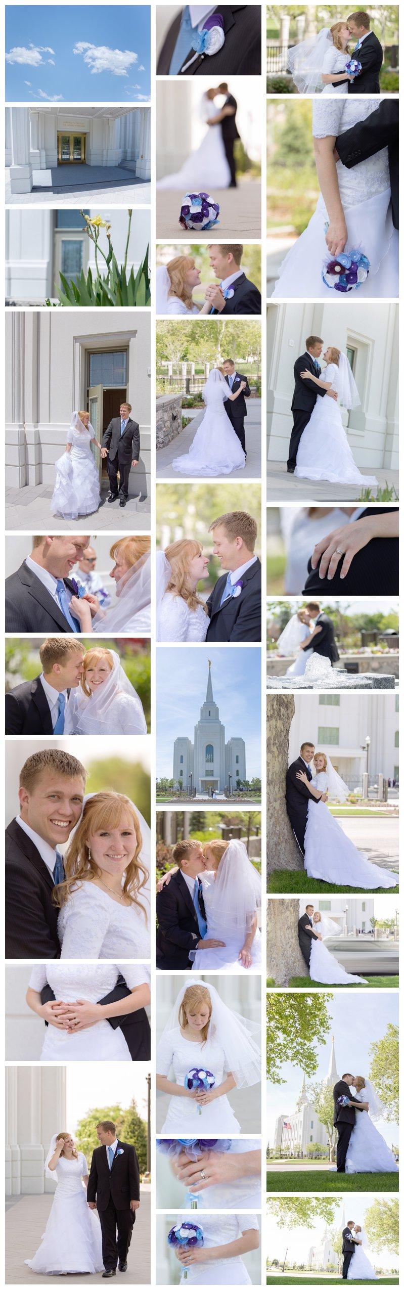 Brigham City temple wedding