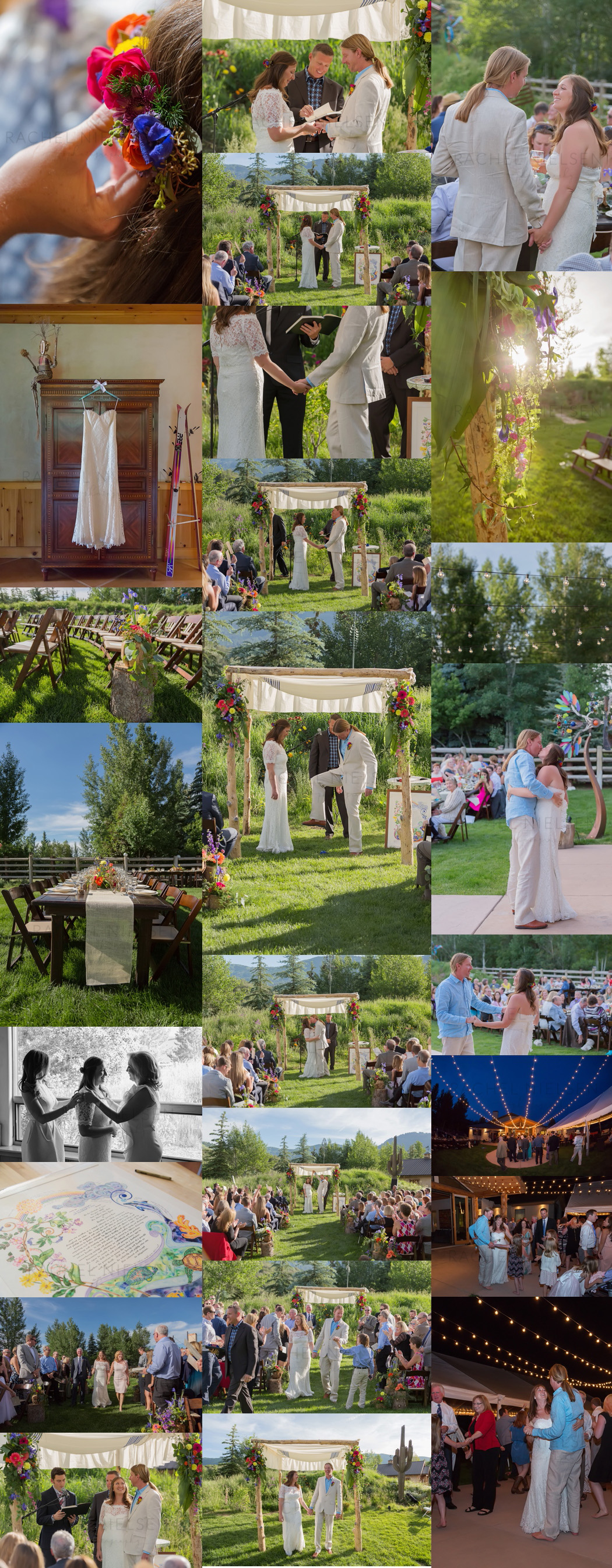 Park City Utah backyard wedding
