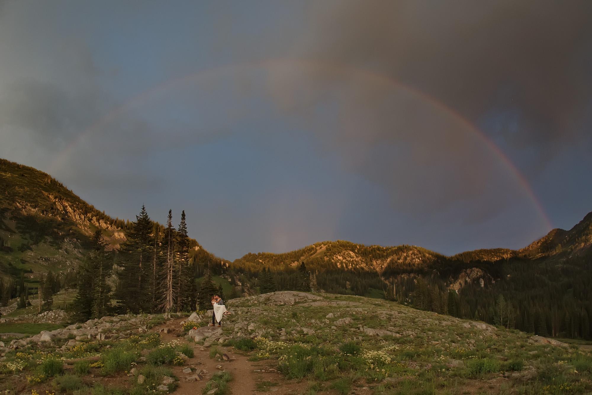 Wedding-photographers-in-Utah-mountain-rainbow