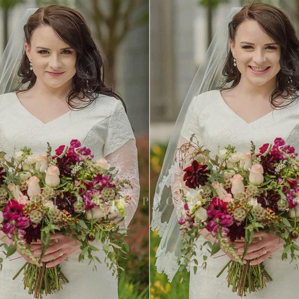 Draper Temple LDS Wedding - Kike + Erin