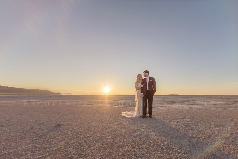 Antelope Island Bride and Groom