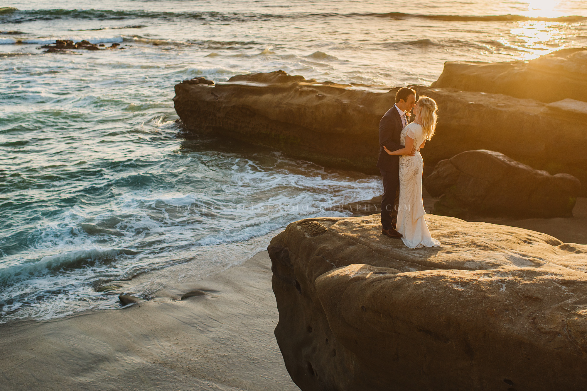 Windansea beach - destination wedding portraits